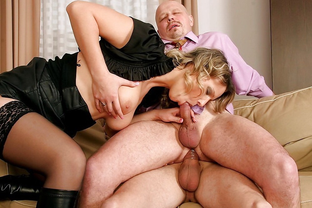 Slutload in thick milf threesome