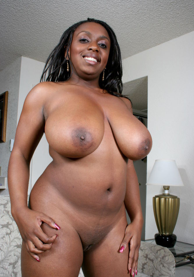 Big tits black chick