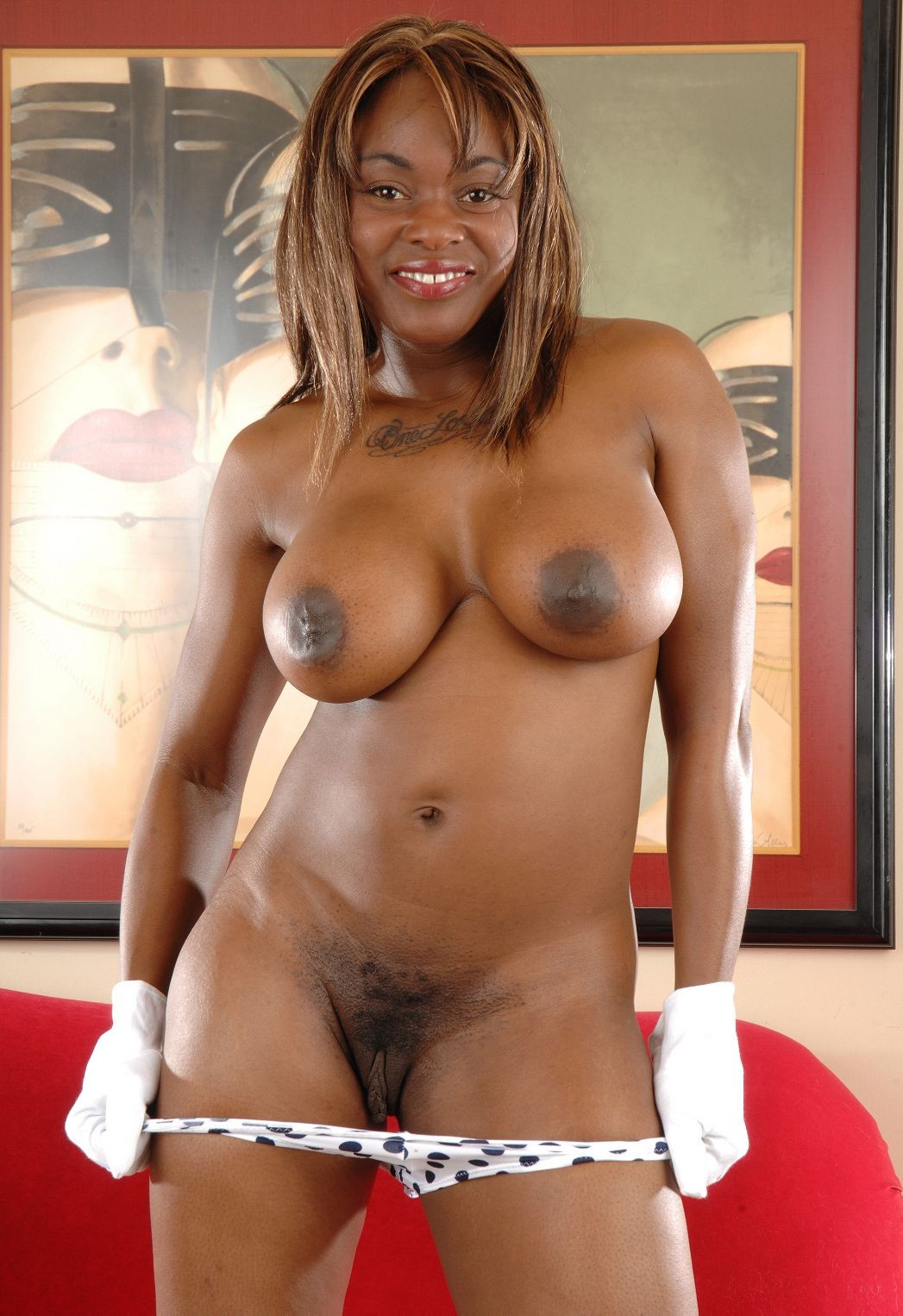 Big black tits free video