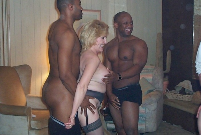 Summer mature interracial fuck white on black russian