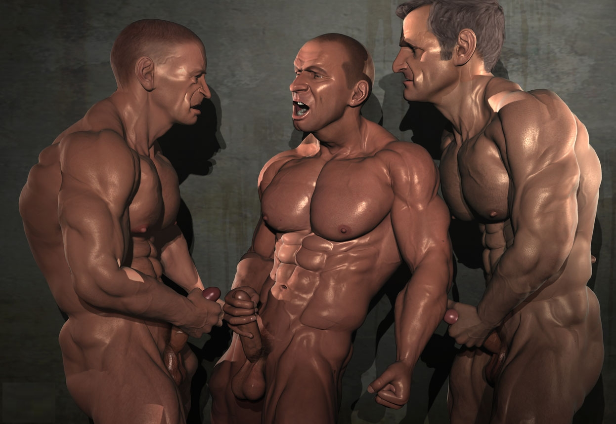 3d muscle gays with huge dicks 4