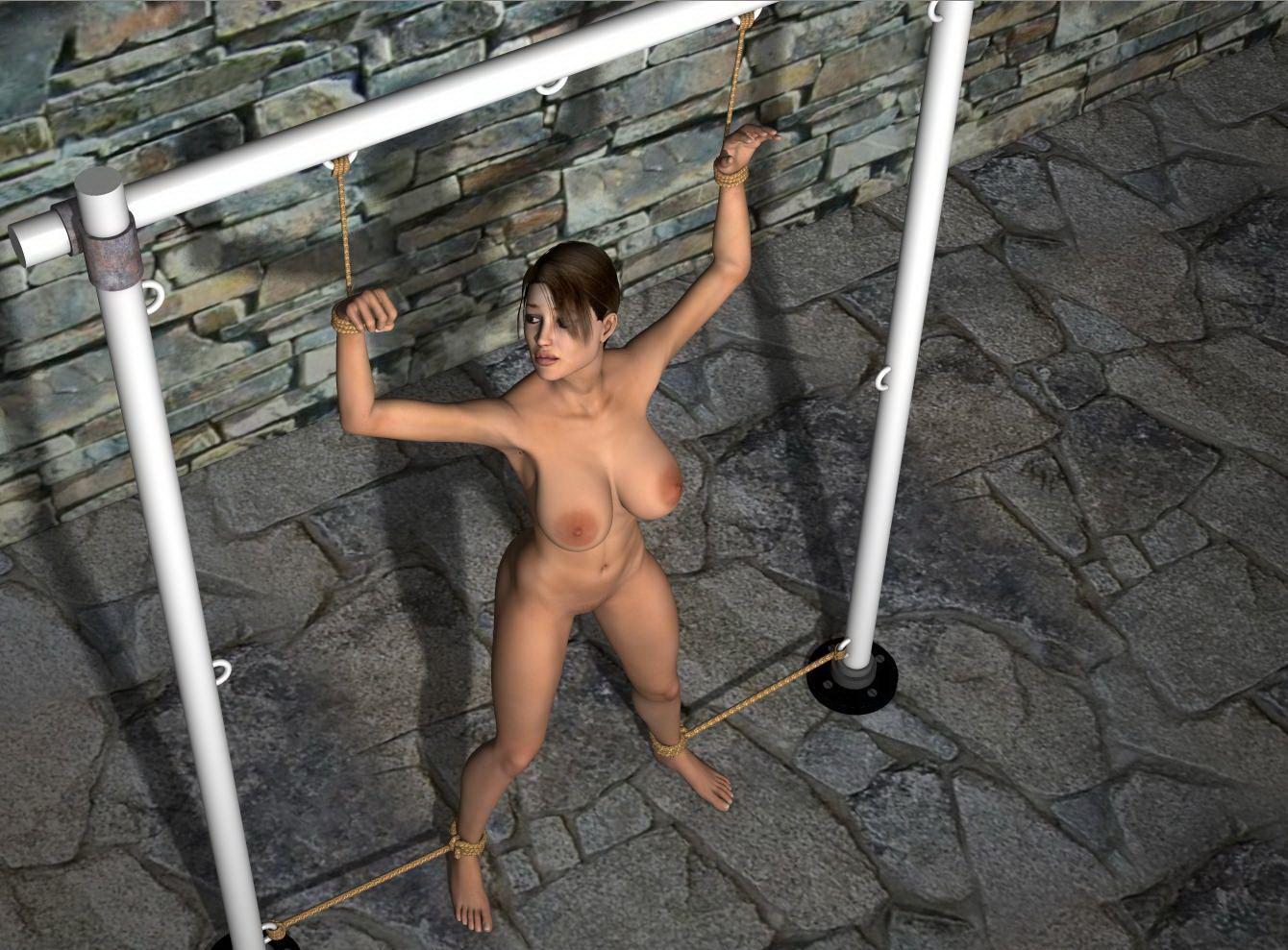 Lara croft tied tube sexual image