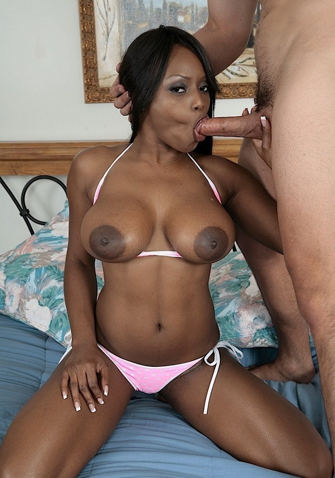 ebony girl giving a blow job