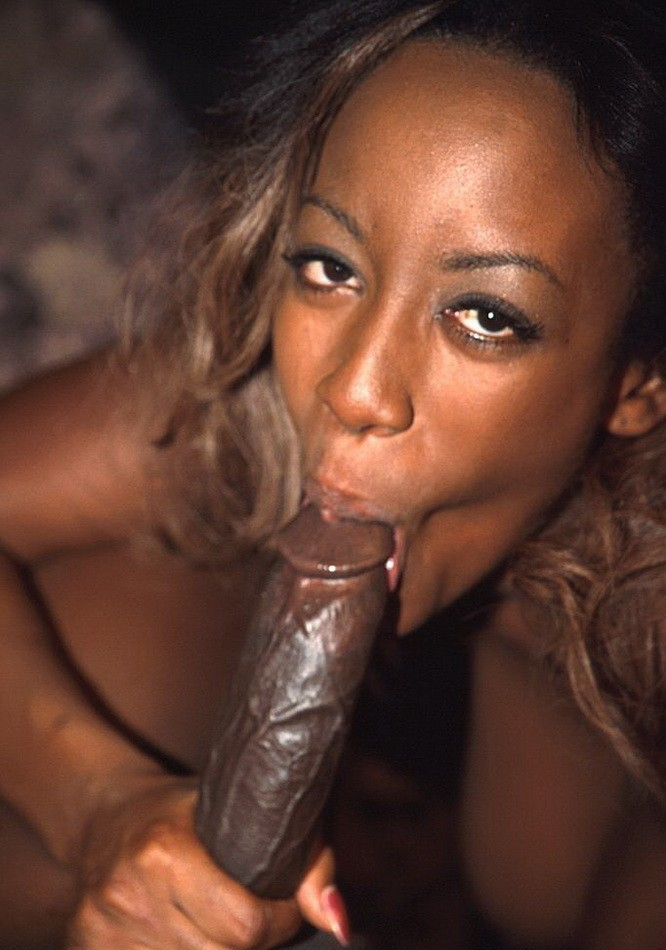 black girl giving blow job