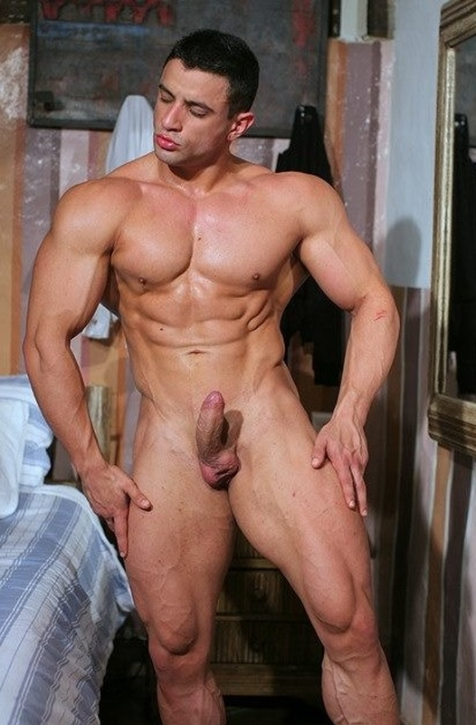 naked guy showing dick