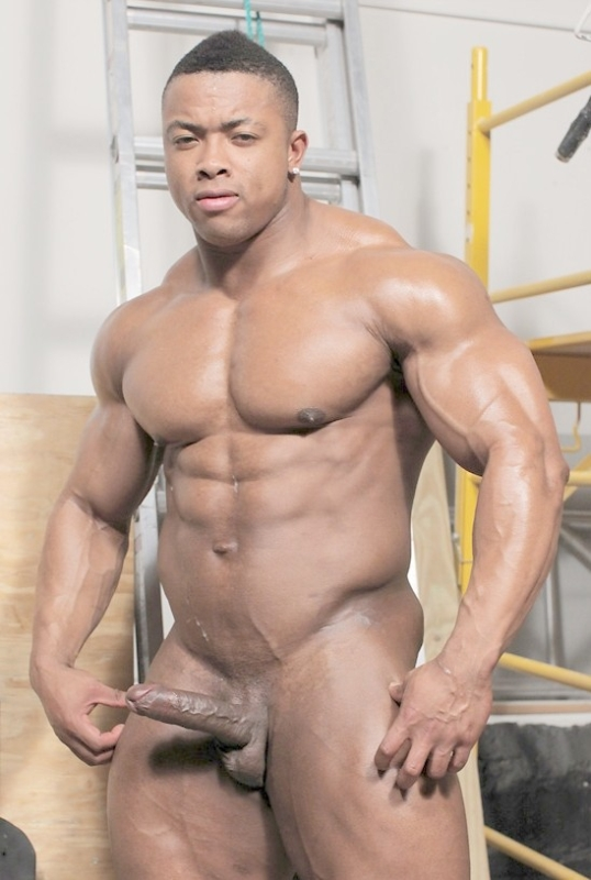 naked black guy showing dick