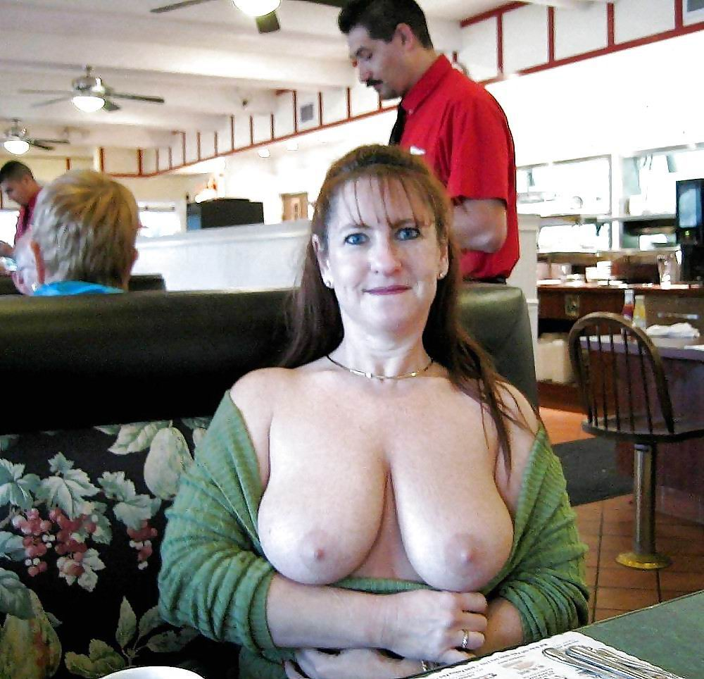 real moms flashing boobs nude