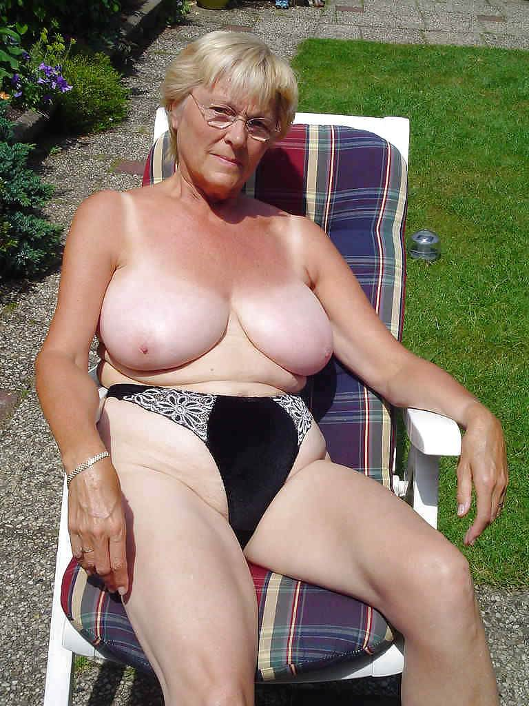 Old big tit granny