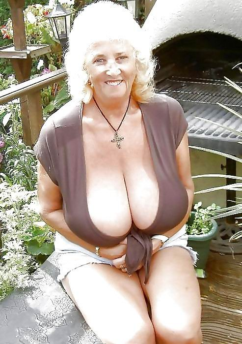 Huge grandma tits for me close up view 4