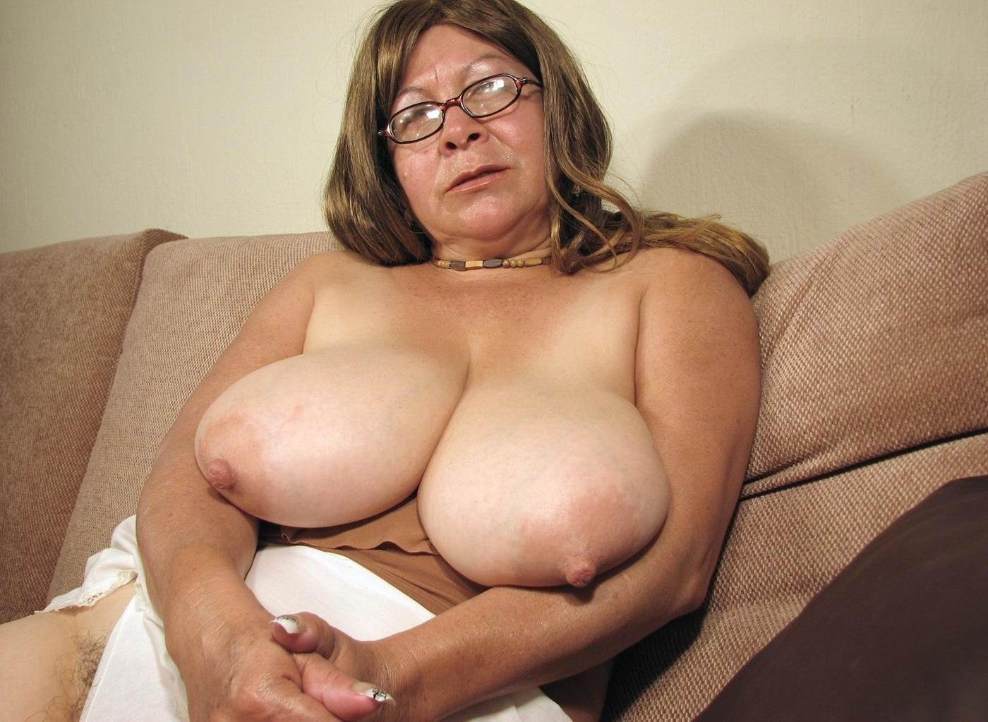 Granny huge breast