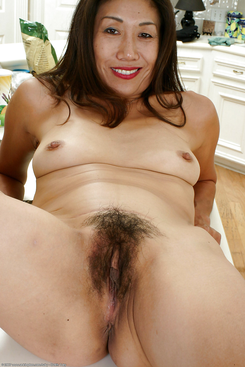 Hairy mature asians