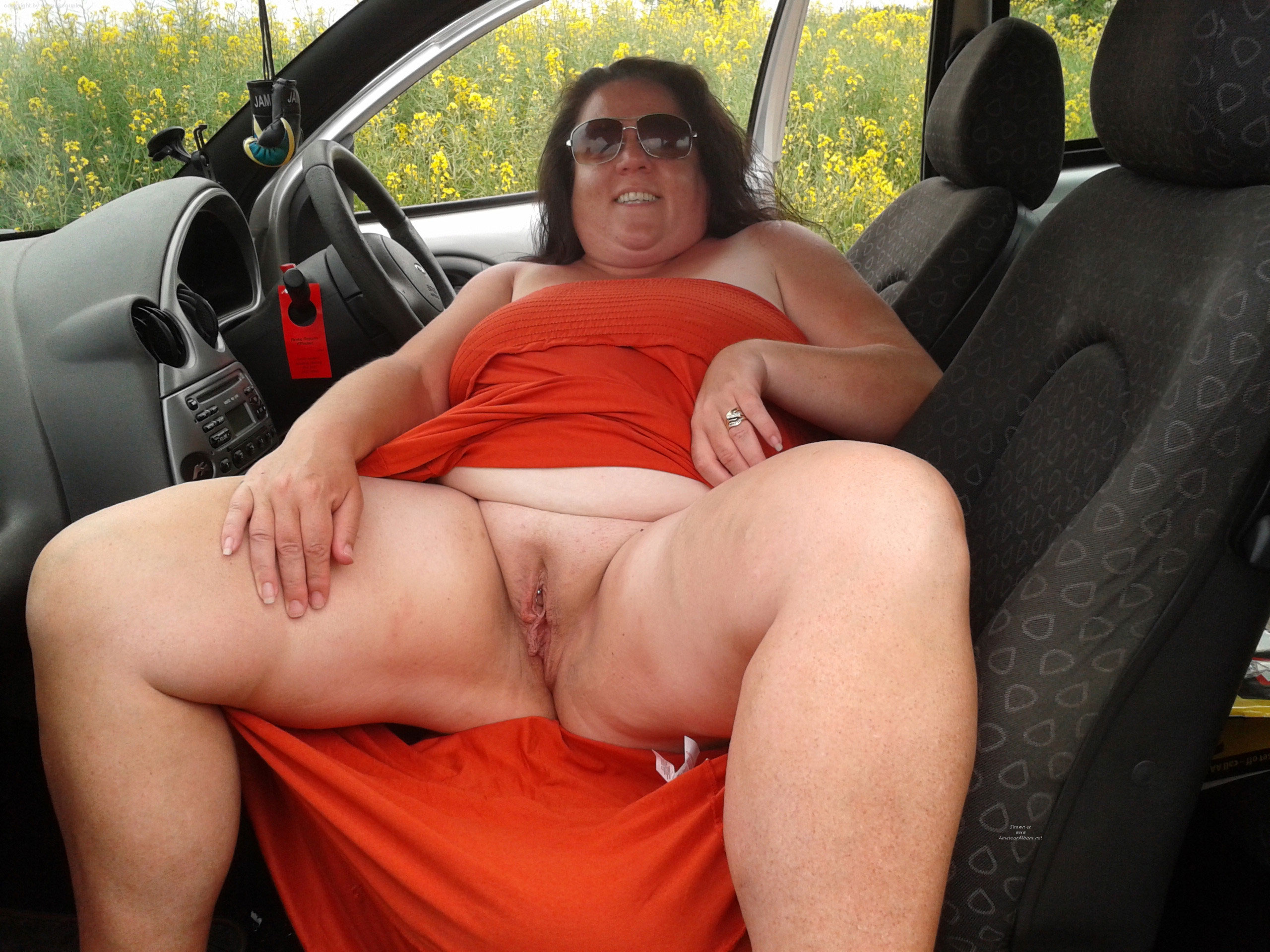 mature in car naked