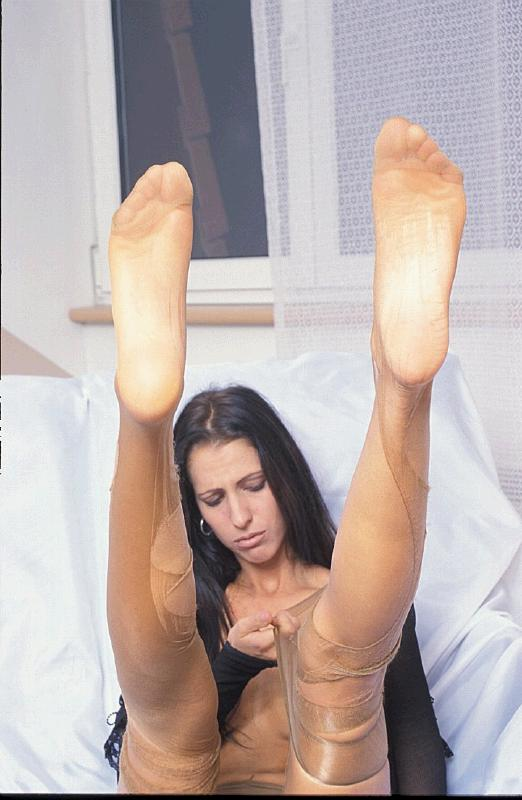 Shared footjob wife