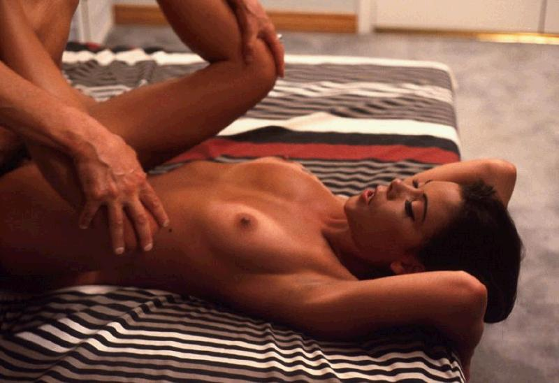 lusty black model bends over to have her firm booty exploited