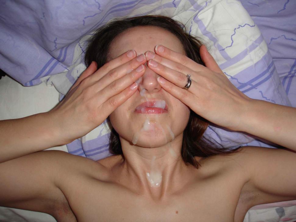 порно фото частное русских сперма на лице