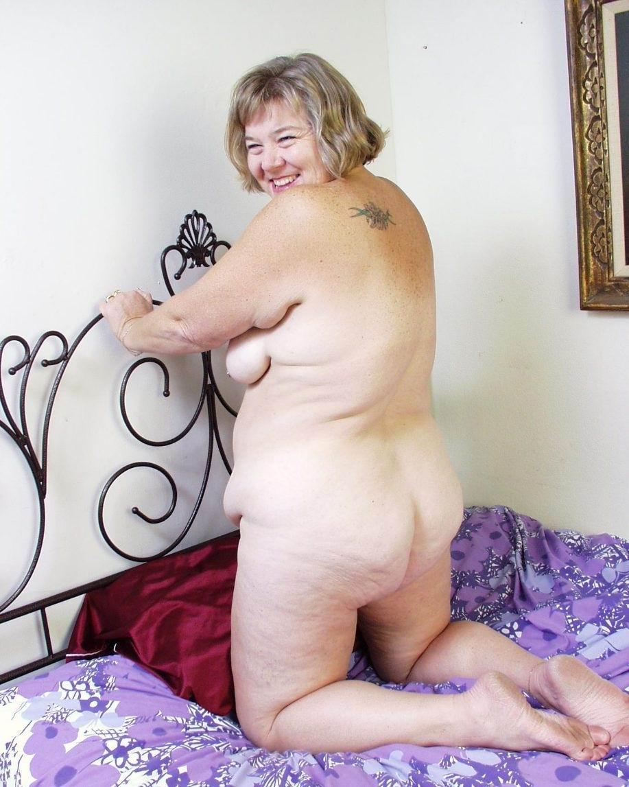 Naked fat grandma