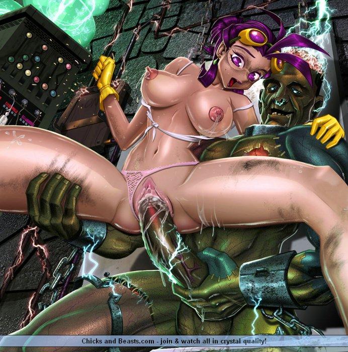 Порно фото секс с монстрами