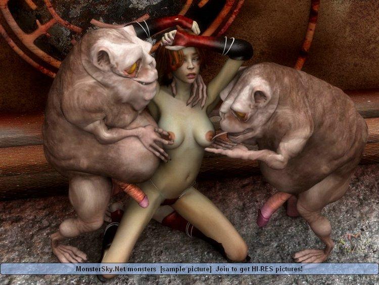 Порно монстры необычные