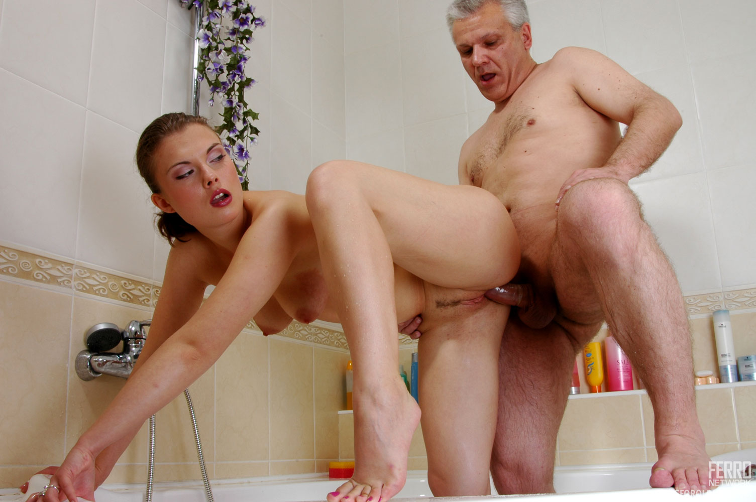 Peeing older women nude
