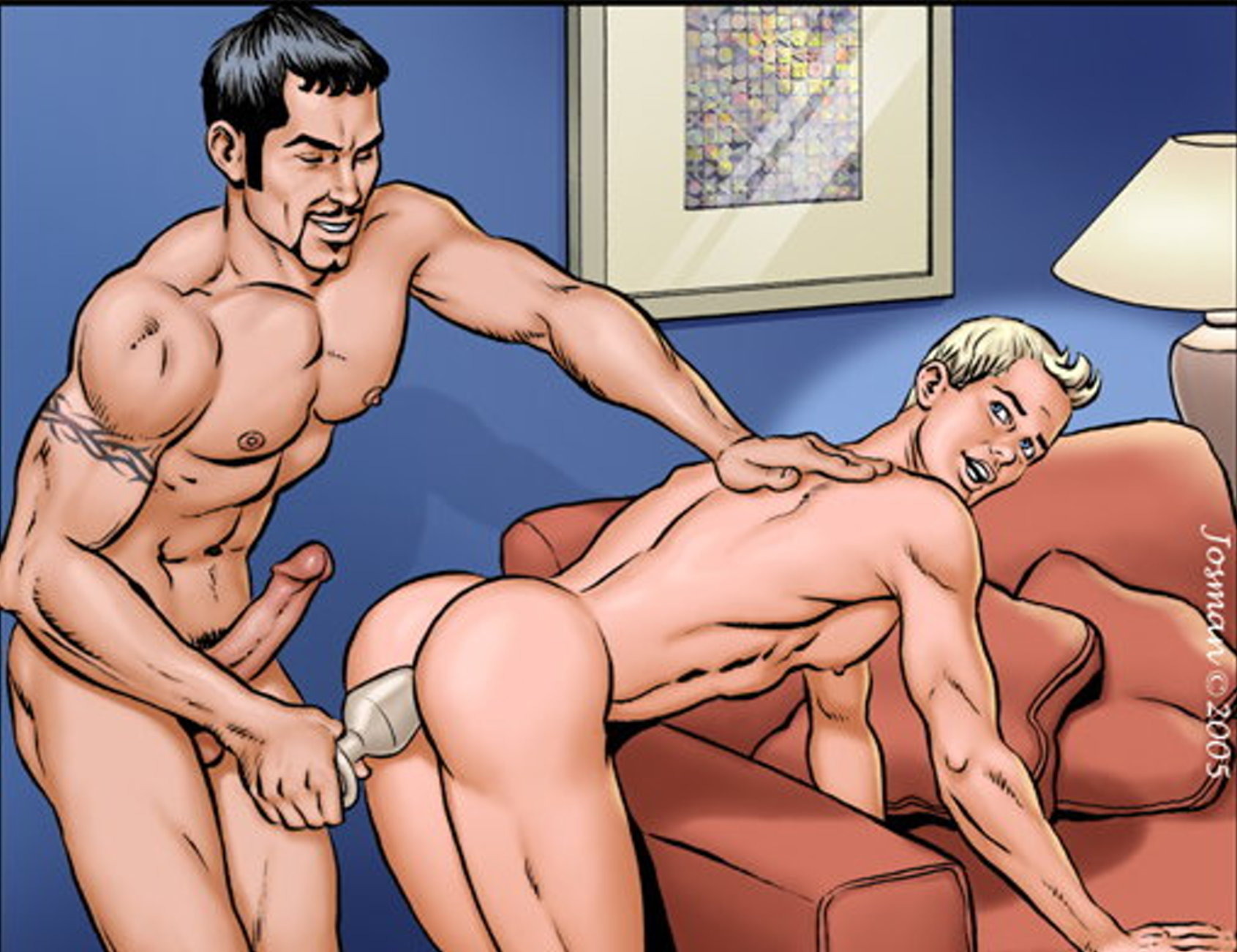 Gay Anal fisting. Cartoon gay incest