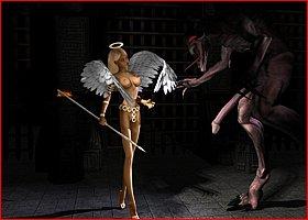 Demons Fuck Girls. Porn Horrors 3D Gallery # 1