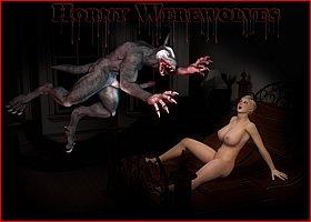 Werewolves fuck innocent girls. Porn Horrors 3D Gallery # 1