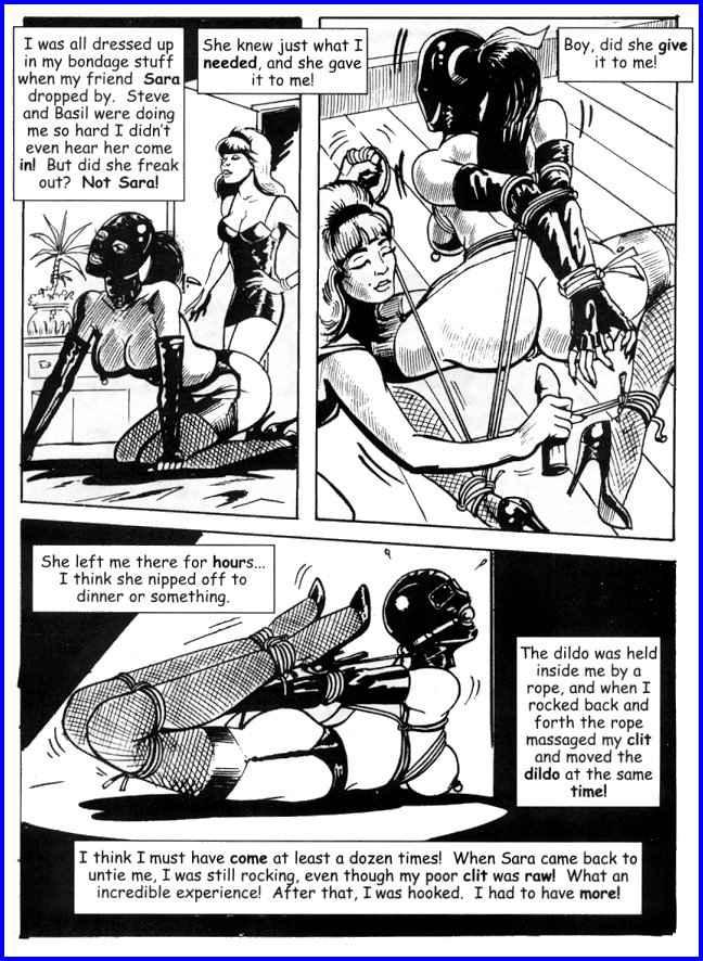 Comic bondage female nude