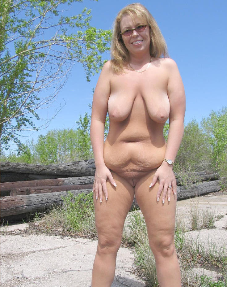 Plump milf saggy fat gilf
