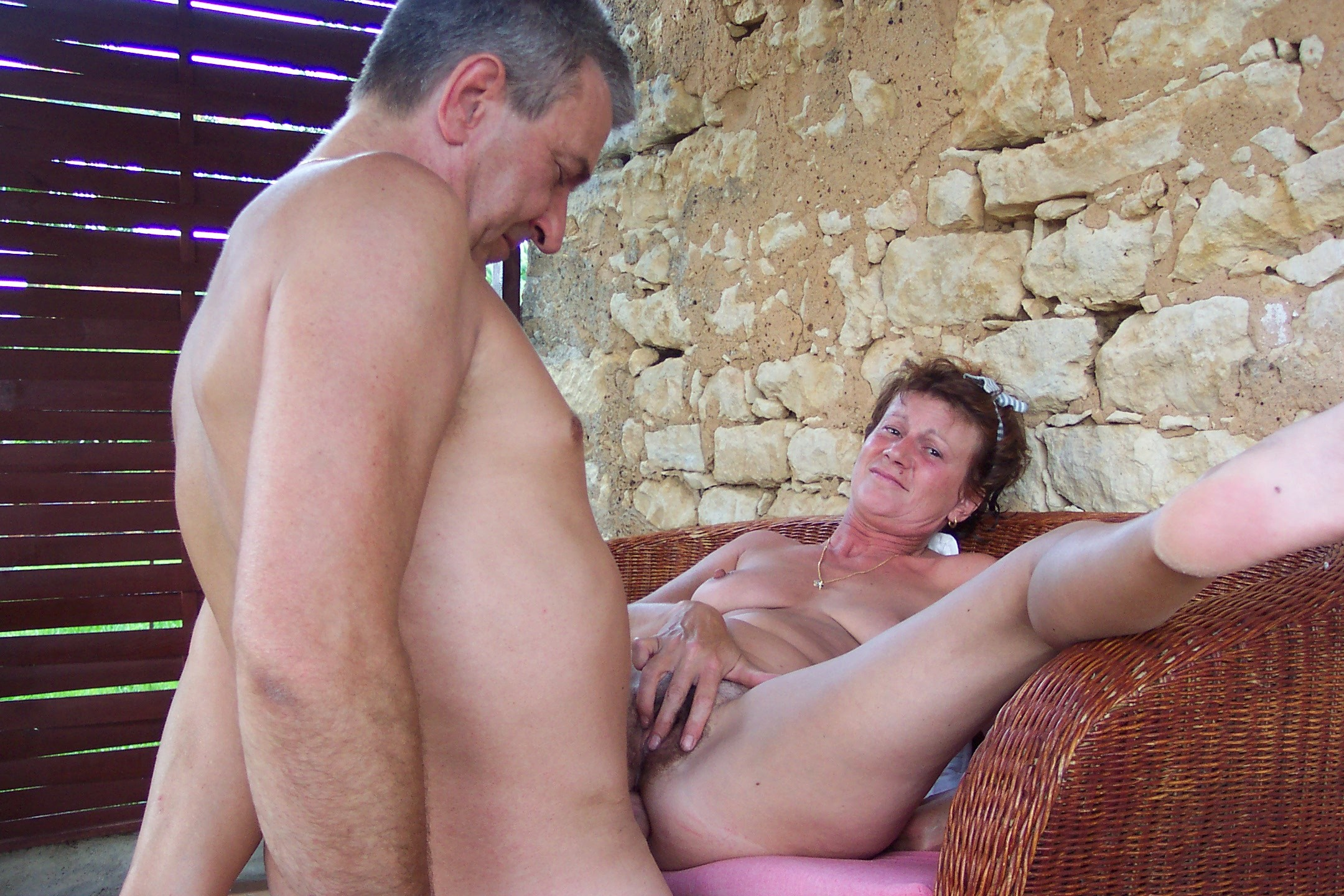 Mature people having sex