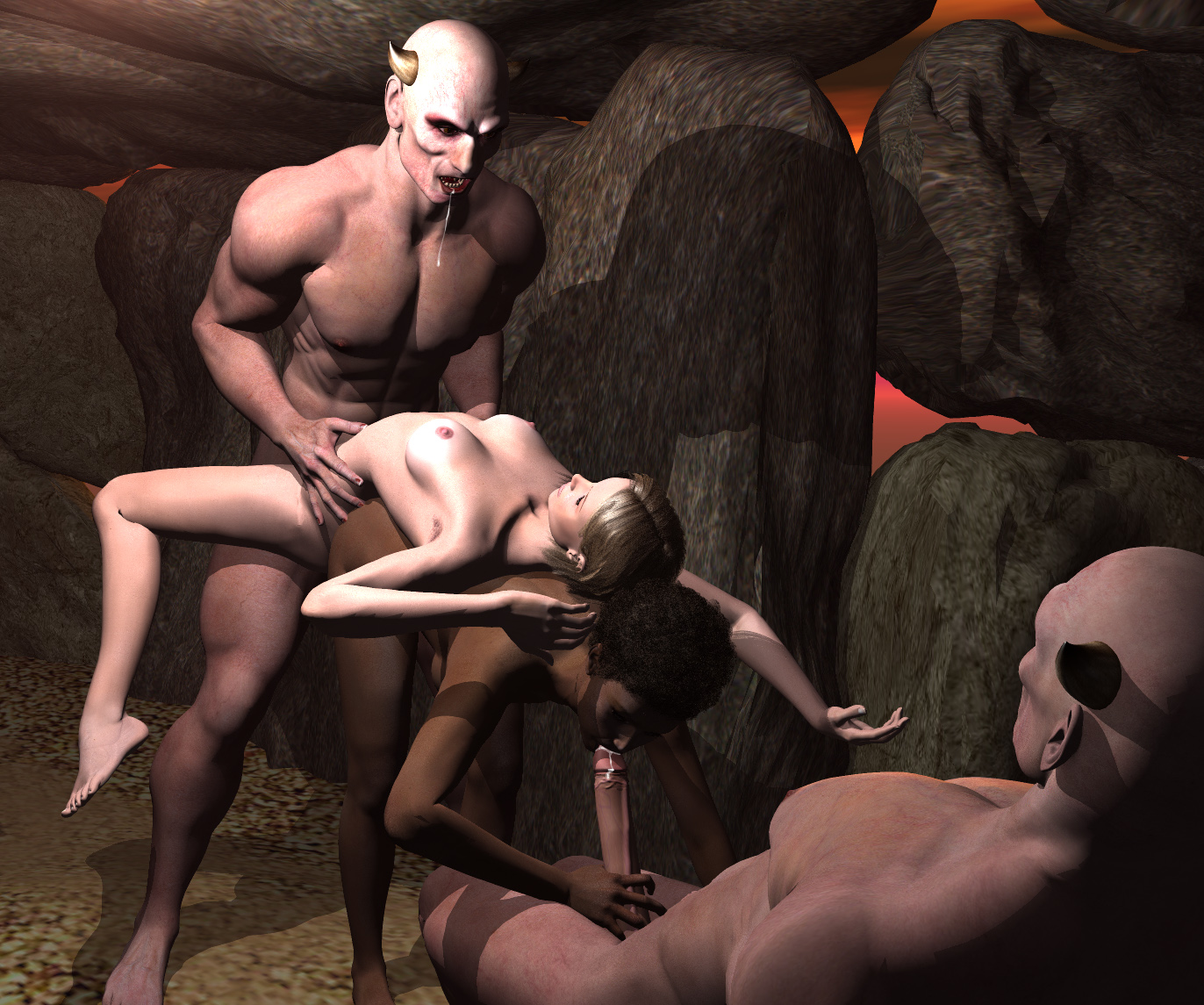 Sex scene from monster's dungeon naked video