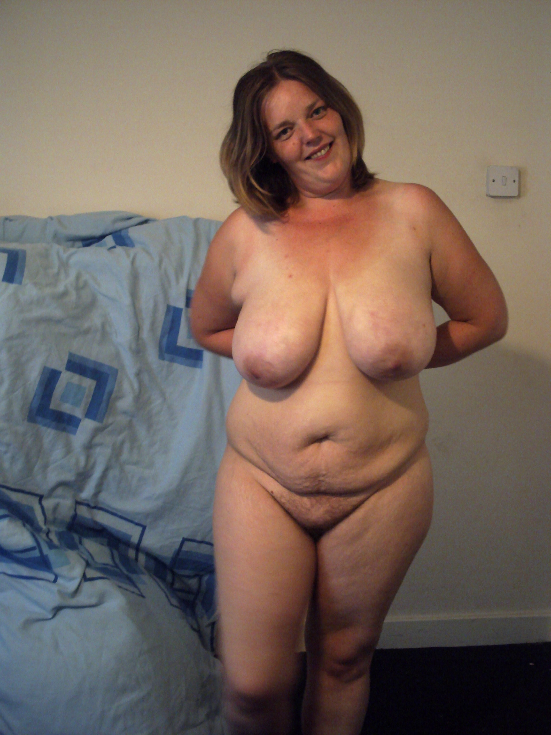 My bbw wife naked