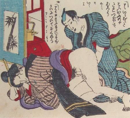 Японская средневековая гравюра.