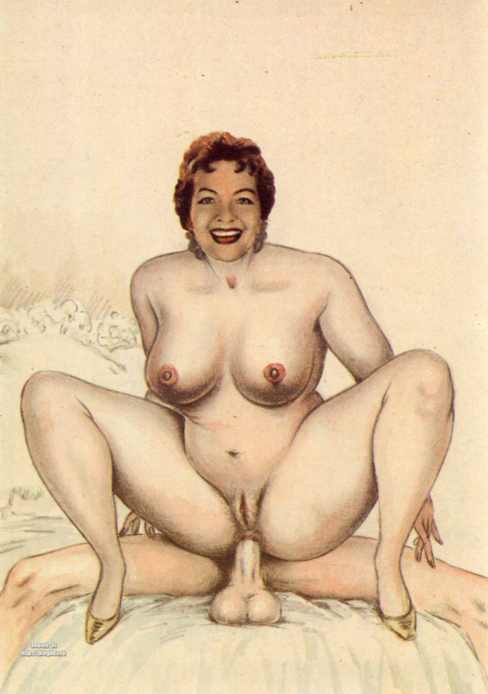 Ретро эротик рисунки 13 фотография