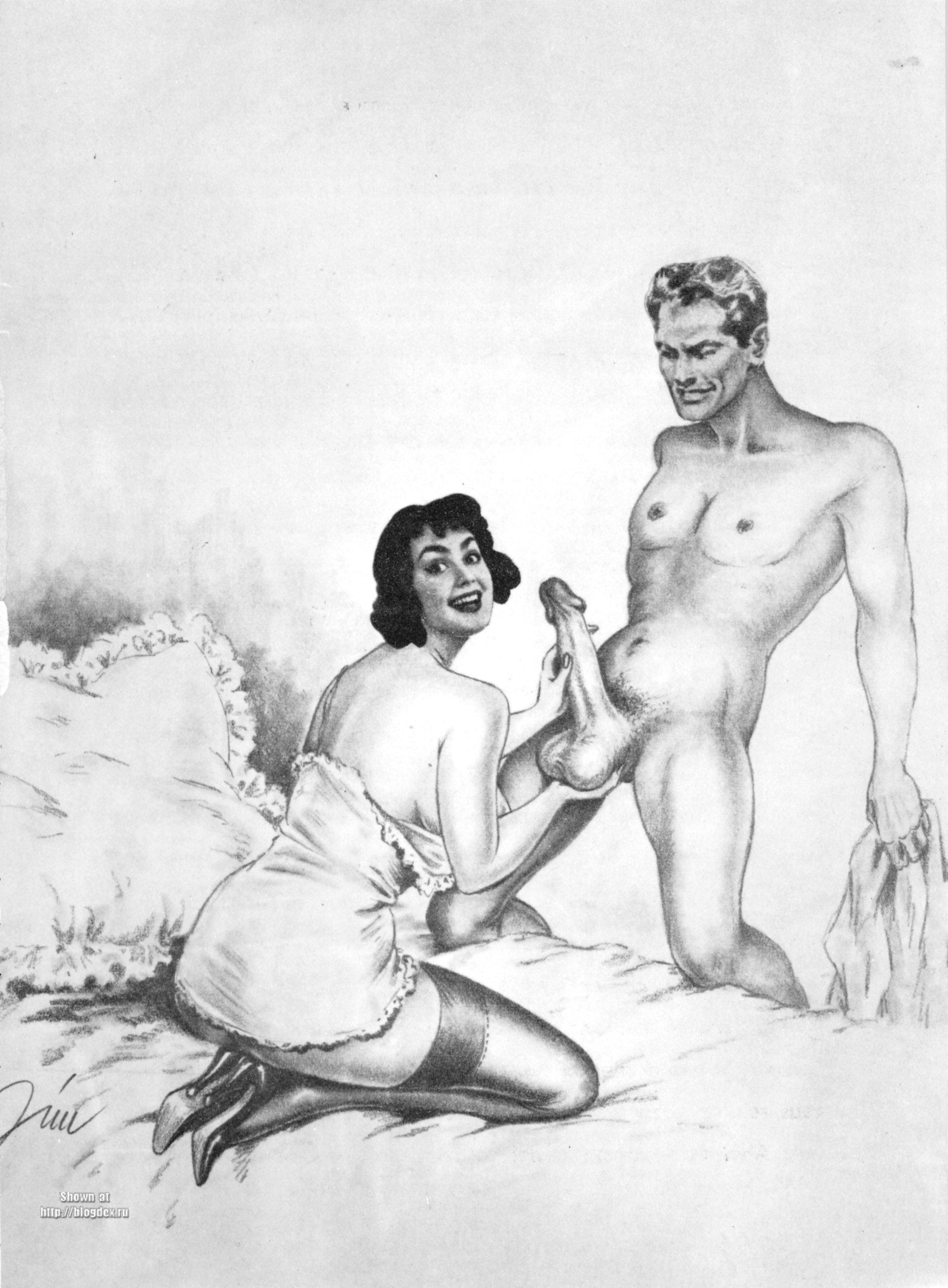 Ретро эротик рисунки 25 фотография