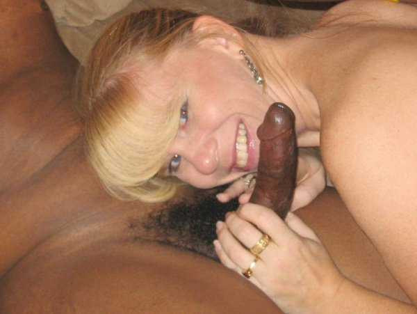 stroking by white women for black guy