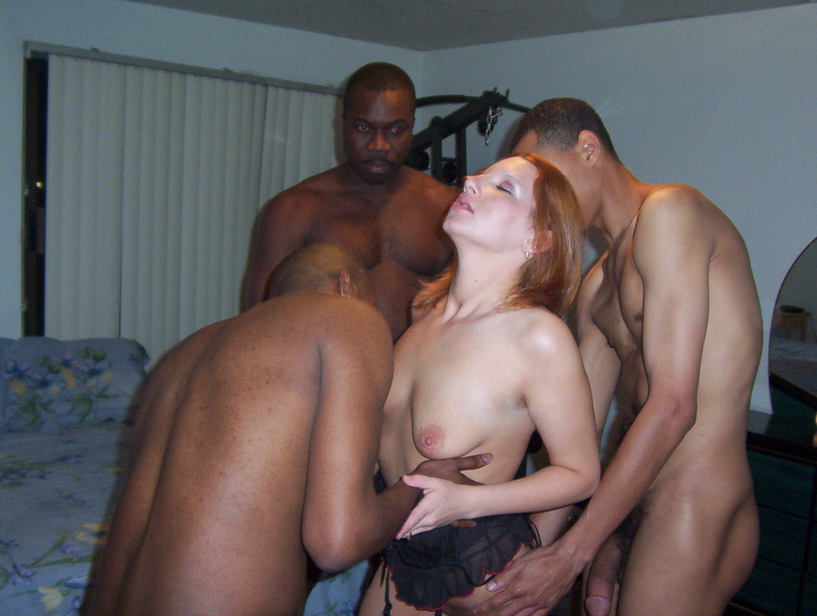 With white black women men naked