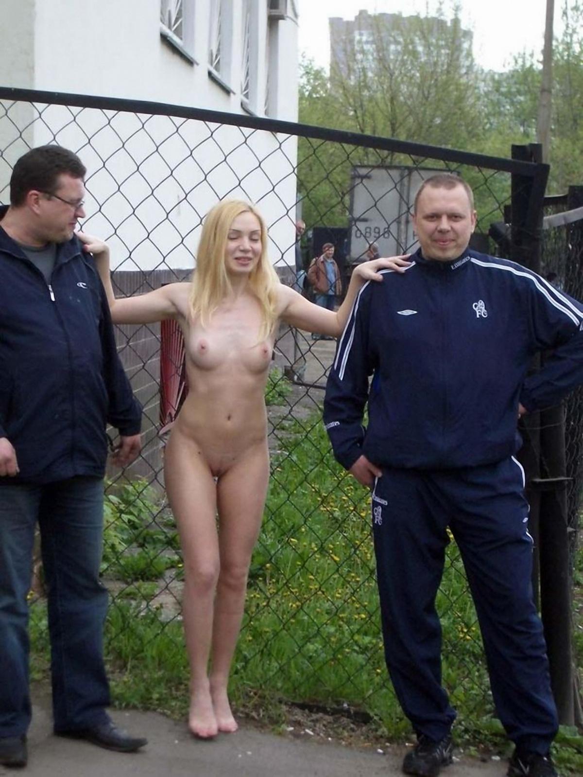 Публичное обнажение порно русское 4 фотография