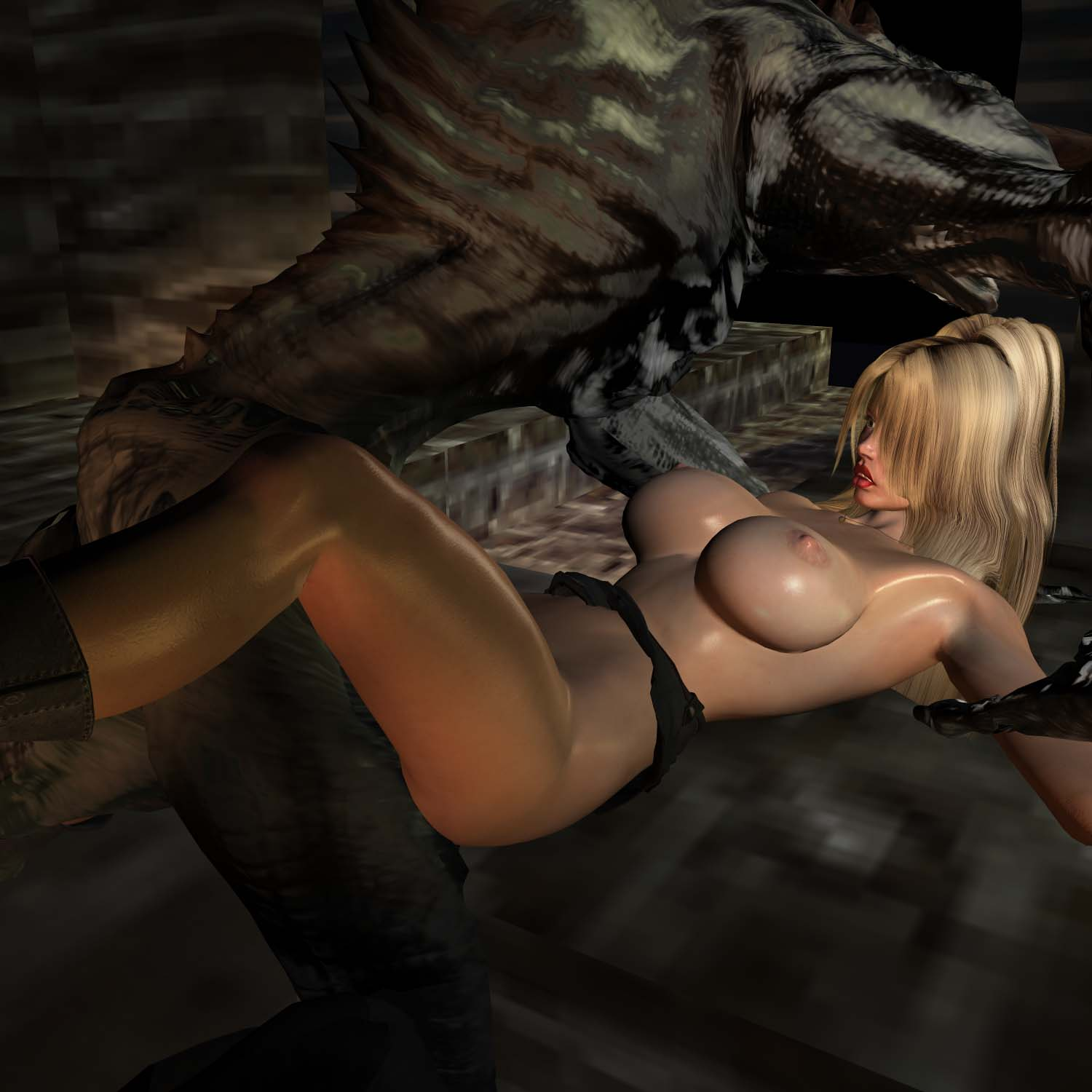 3d sex monster cartoons sexy scene