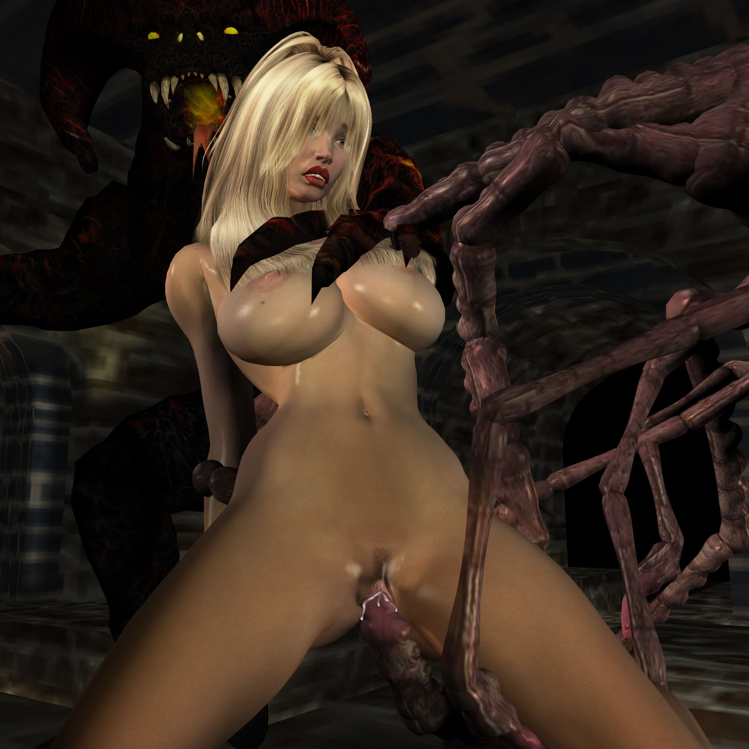 Porn 3d toons monster demon and girlsex  sexual images