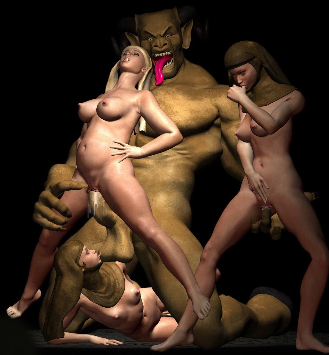 Порно чудовищами и монстрами ужасы