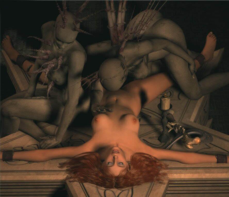 Порно з деманами вампирами