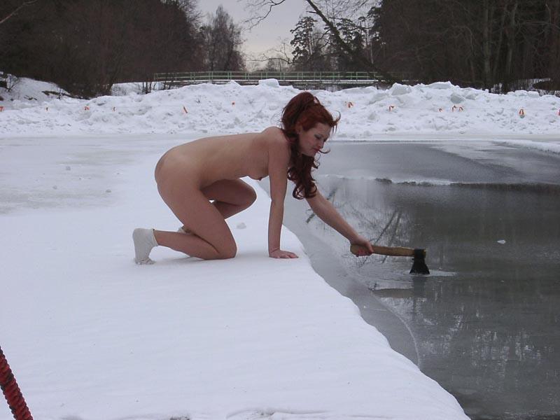 winter nudist families