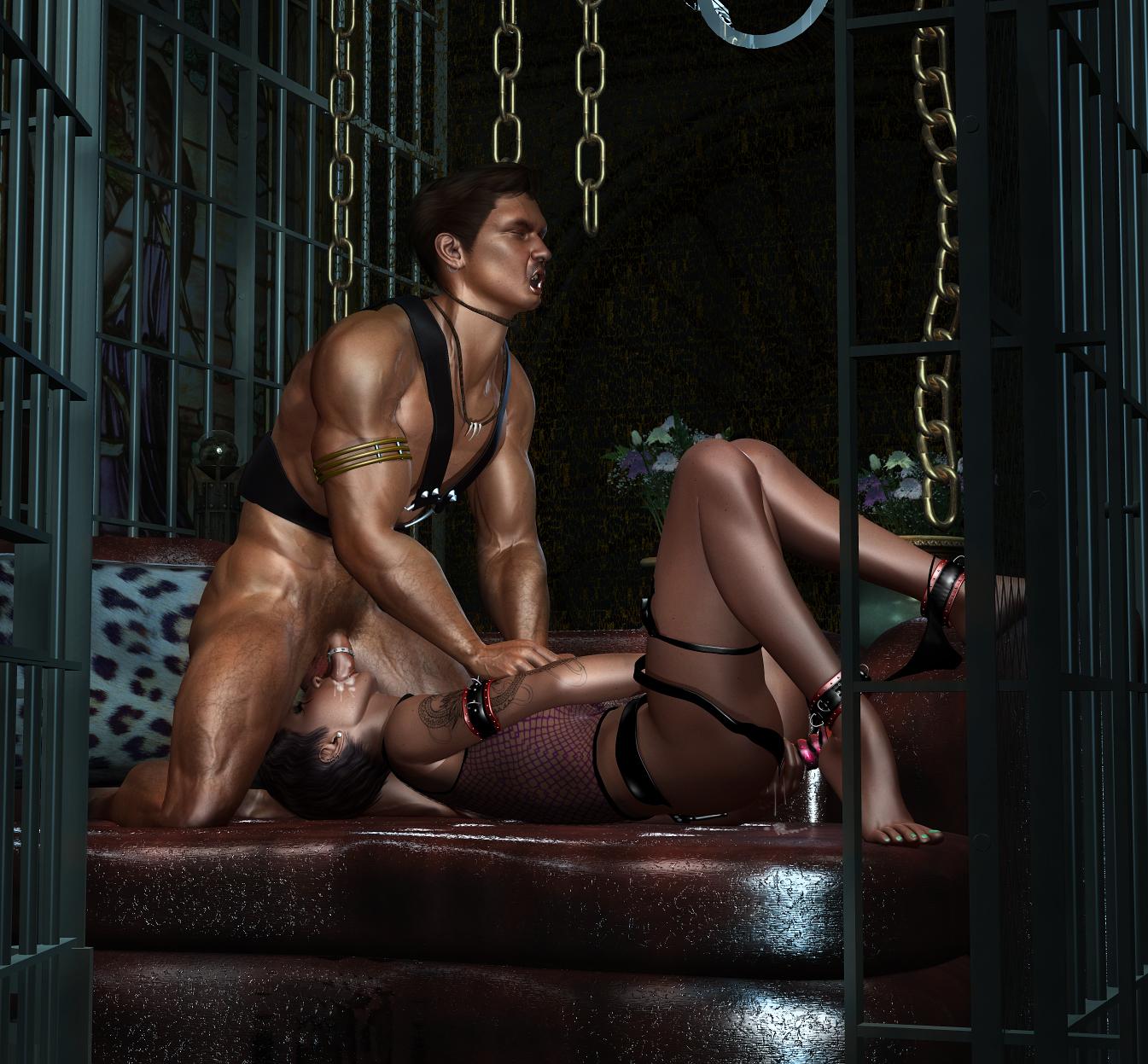 nude woman in bodybilders